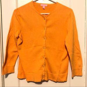 Lilly Pulitzer orange cardigan